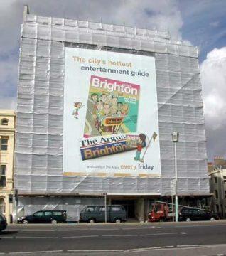 Giant Poster on Embassy Court Brighton   Trevor Chepstow