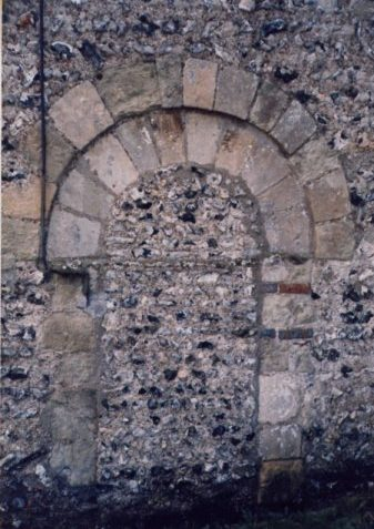 Exterior of the original north door   Photo by Jennifer Drury