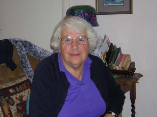 Olive Simmonds, 2005   Photograph taken by Zoe Woods