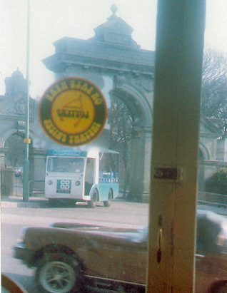 My Co-op milkfloat taken from the cafe | From the private collection of Sherren Hobson