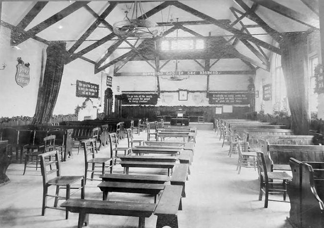 Undated interior photograph of the Exeter Street Church Hall | From the private collection of St Luke's Prestonville