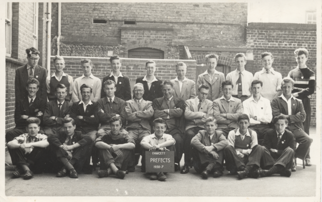Fawcett School prefects | From the private collection of Malcolm Staley