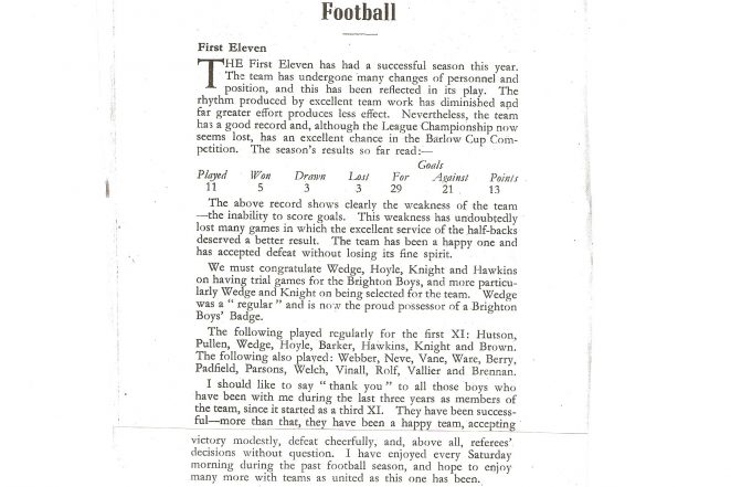 Report from 'The Bison' magazine | From the private collection of Fred Hards