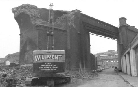 Process of demolition in 1976