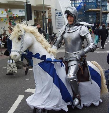 A knight in shining armour in Church Street! | Photo by Tony Mould