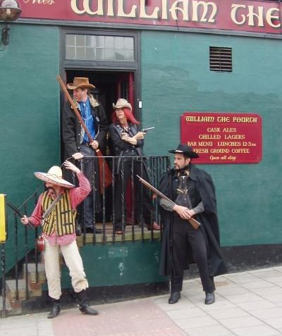 A pub shoot out! | Photo by Tony Mould