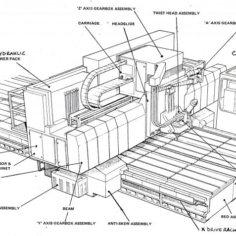 The 200 Series Maxetrace schematic, taken from the Service Manual | From the private collection of Peter Gibney