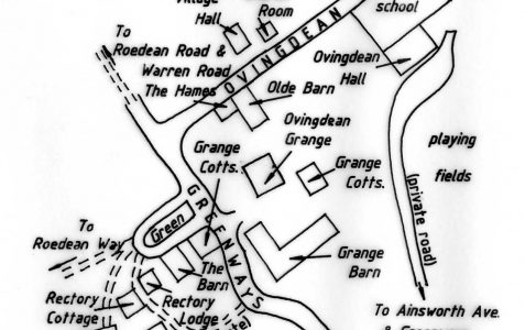 Map of village c1990