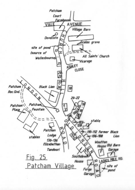 Patcham Village | Reproduced with permission from the Encyclopaedia of Brighton by Tim Carder, 1990