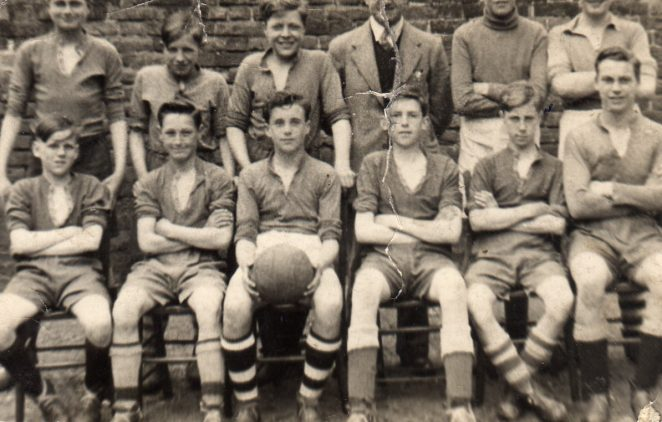 Fawcett School 2nd XI football team | From the private collection of Terry Jackson.
