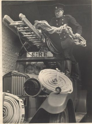 Fireman George in the National Fire Service | From the private collection of Georgie Hole