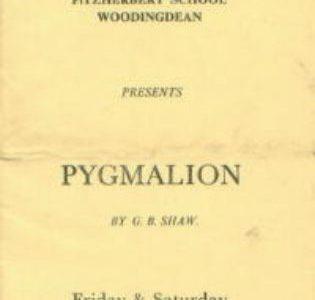 'Pygmalion': the school play, December 1965