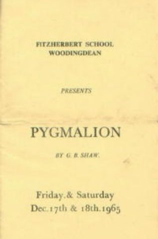 'Pygmalion': the school play, December 1965