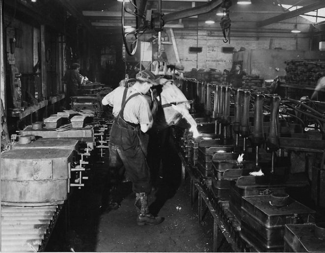 Carefully Controlled Pouring, CVA Foundry c. 1965 | From the collection of Peter Groves