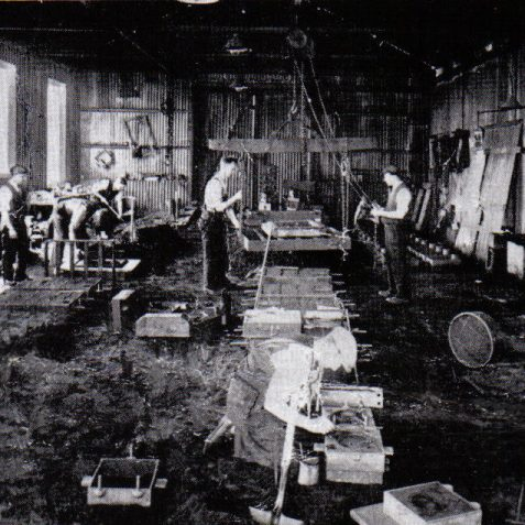 The original small foundry, late 1920's   From the private collection of Peter Groves