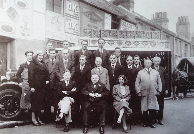 Alfred John Smith(centre) and his staff: Cheapside 1938. Click on the image to open a large version in a new window. | From the private collection of George Sibun