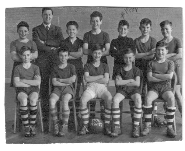 This photo is of Fitzherbert School 3rd X1 taken in the 1956/57 season. | From the private collection of Anthony Daly