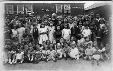 Street party at the end of the war