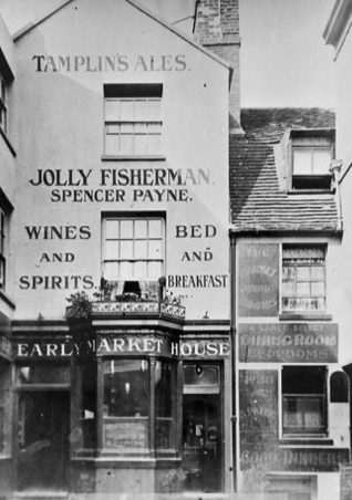 Jolly Fisherman at 35 Market Street c1939   Image reproduced with kind permission of The Regency Society and The James Gray Collection