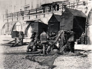 Fishermen in 1909 | Image reproduced with permission from Brighton History Centre