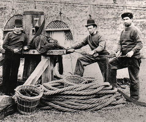 Fishermen in the 1860s | Image reproduced with permission from Brighton History Centre
