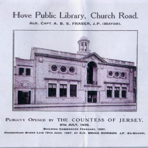 Pamphlet on the opening ceremony   Reproduced by courtesy of Hove Library