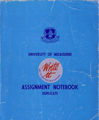 Notebook in which Alistair Thomson wrote 66 letters home to Australia | Contributed to Letter in the Attic by Alistair Thomson