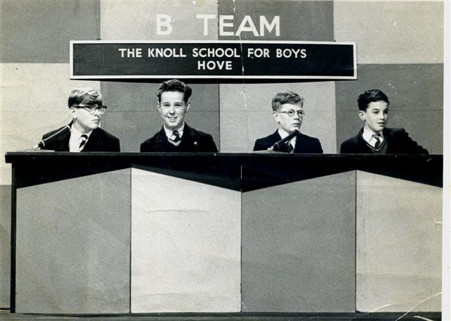 Knoll School for Boys quiz team c1959 | From the private collection of Ian Beck