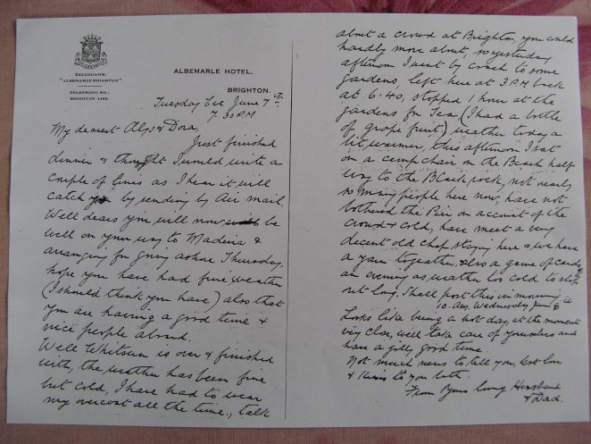 Captain Sydney Ardley Garnham's letter | From the private collection of Josie Campbell