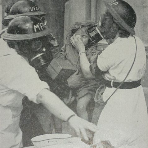 Tear gas training | Photo from the 1946 book,