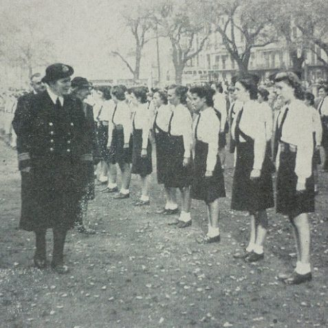 Girls' Training Corps at the Royal Pavilion | Photo from the 1946 book,