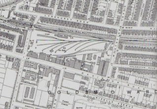 Holland Road Goods Yard, C.1930 | Reproduced with permission from the Ordnance Survey, Godfrey Edition