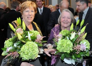 The Mayor of Brighton and Hove, Councillor Ann Norman and Lady Tebbit | Photo by Tony Mould