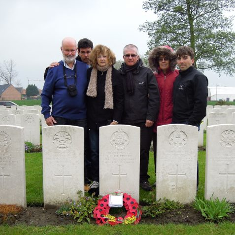 Our family visiting Fred's grave in Chocques, France. (May 2012) | Private Collection of Geoffrey Barber