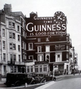 The famous Guinness Clock, Kings Road: click for full sized image | From the private collection of Trevor Chepstow