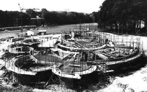 Construction of the Gardner Arts Centre