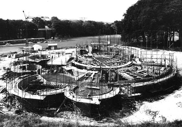 Construction of Gardner Arts Centre, University of Sussex | Photo from private collection of John Desborough