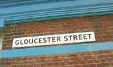 The Gloucester Street sign