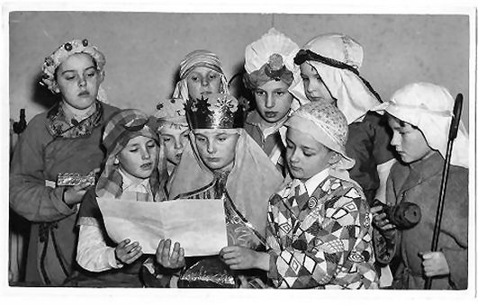 Goldstone Junior School nativity play c1957 | From the private collection of Nick Lade