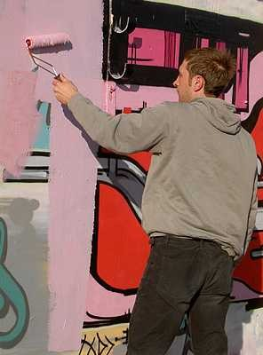 Graffiti artist at Black Rock | Julia Powell