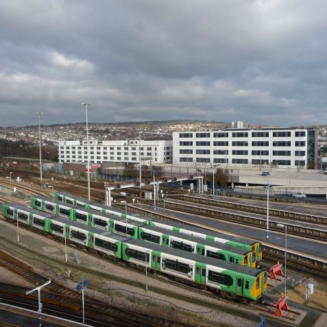 A view over the station with finished buildings. | Photo by Michael Brittain