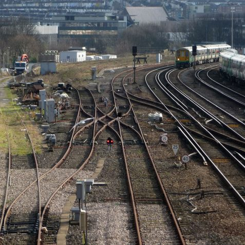 The goods line spur, with the upper goods yard still visible. | Photo by Michael Brittain