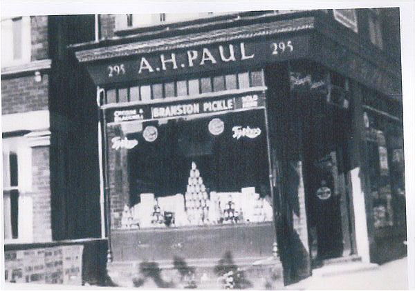AH Paul's grocers store at 295 Ditchling Road. | From the private collection of Kenneth Paul