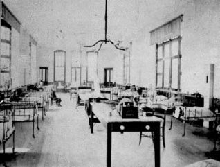 Early photograph of interior