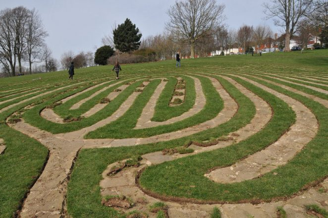 Fingerprint maze in Hove Park | Photo by Tony Mould