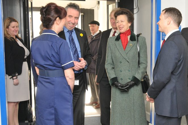 Princess Royal is welcomed by staff | Photo by Tony Mould: click on the image to open a large version in a new window