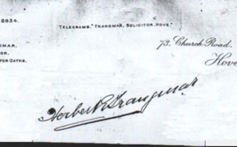 H.E.Trangmar Letterhead | Trangmar Family archive