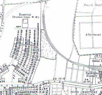 Rowan Avenue prior to development by T. J. Braybon & Son c.1930 | Ordnance Survey