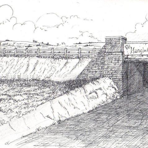 Bridge over the Hangleton Road c. 1933 | Original artwork Tim Groves