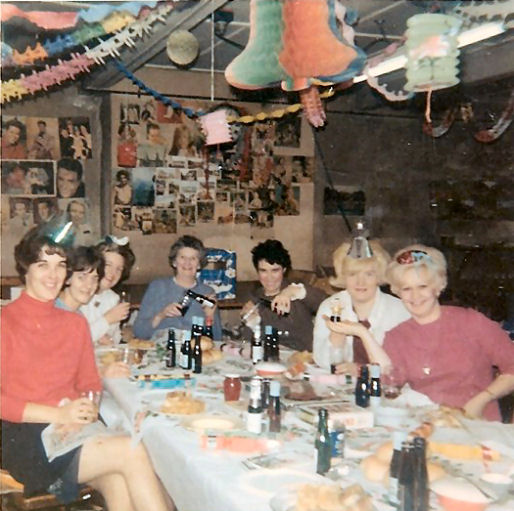 Christmas party around 1967 or 1968. | From the private collection of Alexis Grossmith